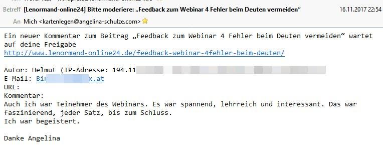 Feedback Helmut